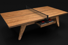 Trigon - Walnut Table Tennis Table